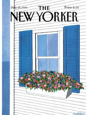 The New Yorker Cover - July 28, 1986 by Judith Shahn