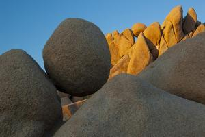 California. Joshua Tree National Park. Jumbo Rocks at Sunset by Judith Zimmerman