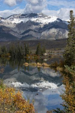 Canada, Alberta. Autumn reflections at Talbot Lake, Jasper National Park. by Judith Zimmerman