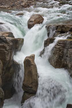 Canada, Alberta. Sunwapta Falls detail, Jasper National Park. by Judith Zimmerman