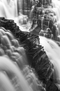 Canada, Ontario. Black and White Image Detail of Kakabeka Falls by Judith Zimmerman