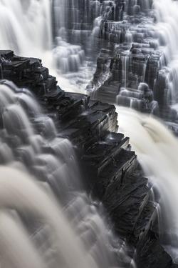 Canada, Ontario. Detail of Kakabeka Falls by Judith Zimmerman