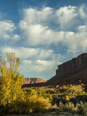 Colorado Plateau. Clouds over a Mesa in Early Autumn, Castle Valley by Judith Zimmerman