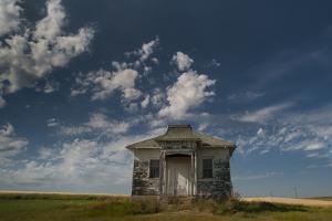 North Dakota, Abandoned Township Hall on the North Dakota Prairie by Judith Zimmerman