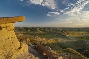 North Dakota, Overlooking an Eroded Prairie from an Erosion Formation by Judith Zimmerman
