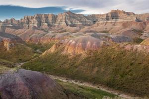 South Dakota, Erosion Hills in Badlands National Park by Judith Zimmerman