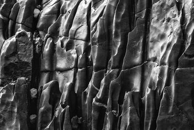USA, Arizona. Black and White image. Canyon wall detail, Vishnu Shist, Grand Canyon National Park.