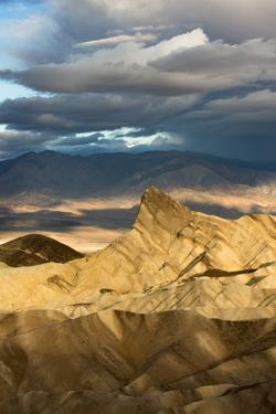 USA, California. Early morning light from Zabriskie Point, Death Valley National Park. by Judith Zimmerman
