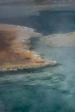 USA, Wyoming. Doublet Pool detail, Yellowstone National Park. by Judith Zimmerman