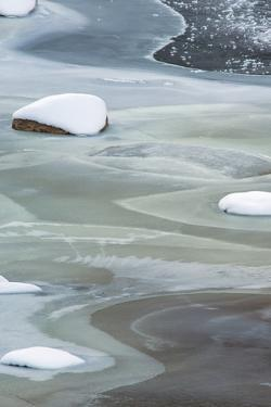 Utah. Abstract Patterns of Colorado River Ice, Moab by Judith Zimmerman