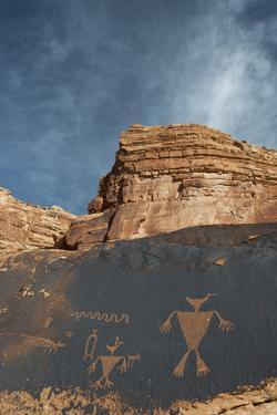 Utah, Duck Headed Man Petroglyph, Cedar Mesa by Judith Zimmerman