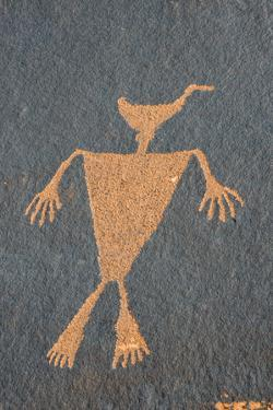 Utah. Duck Headed Man Petroglyph, Cedar Mesa by Judith Zimmerman