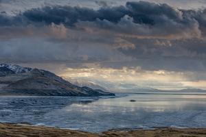 Utan, Antelope Island State Park. Clouds over a Wintery Great Salt Lake by Judith Zimmerman