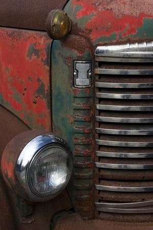 Vermont. Rusting Abandoned Vintage International Truck Detail