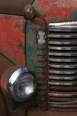 Vermont. Rusting Abandoned Vintage International Truck Detail by Judith Zimmerman