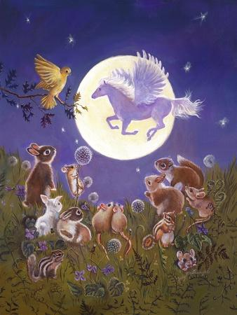 Little Animals Looking at the Moon