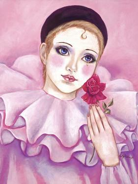 Mime with Rose by Judy Mastrangelo