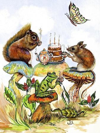 Mushroom Birthday Tea Party by Judy Mastrangelo