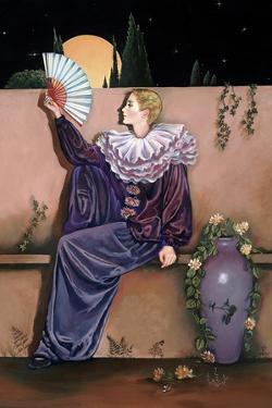 Pierrot with Fan by Judy Mastrangelo