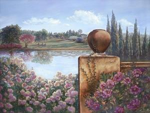 Pond with Wall by Judy Mastrangelo