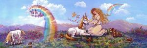 Princess and Unicorn Border by Judy Mastrangelo