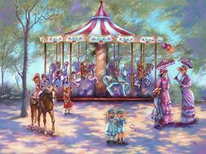 Red Carousel by Judy Mastrangelo