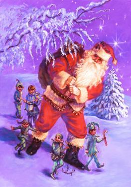 Santa and Elves by Judy Mastrangelo