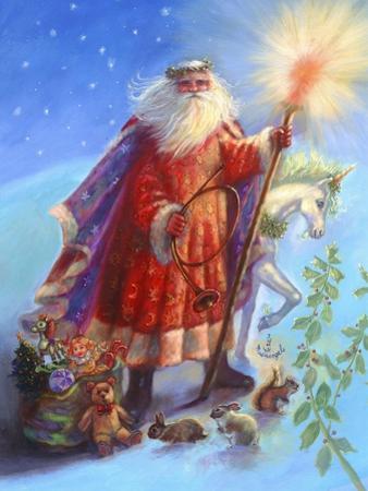 Santa and Unicorn by Judy Mastrangelo