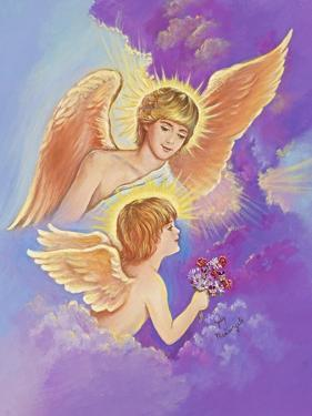 Two Angels by Judy Mastrangelo