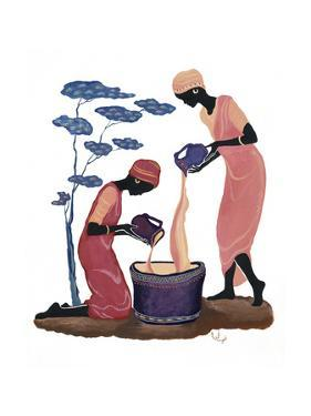Two Women Pouring by Judy Mastrangelo
