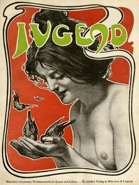 Jugend Front Cover, Naked Woman Feeding Birds