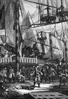 Jean Bart Kills the Dutch Captain of the 'Neptune, 1898 by Jules-Achille Noel