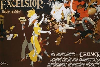 Excelsior Poster by Jules-Alexandre Gr?n