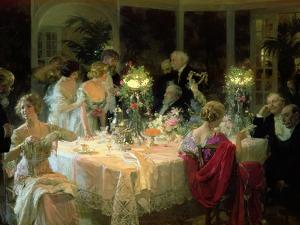 The End of Dinner, 1913 by Jules-Alexandre Grn