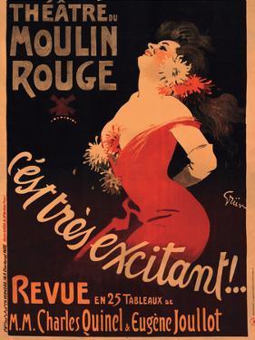 1911 Moulin Rouge C'est Très Excitant by Jules-Alexandre Grün
