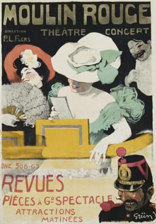 Moulin Rouge Poster by Jules-Alexandre Grün