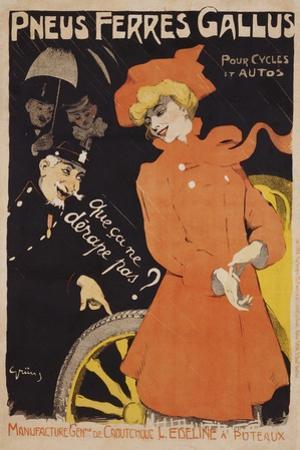 Pneus Ferres Gallus Poster by Jules-Alexandre Grün