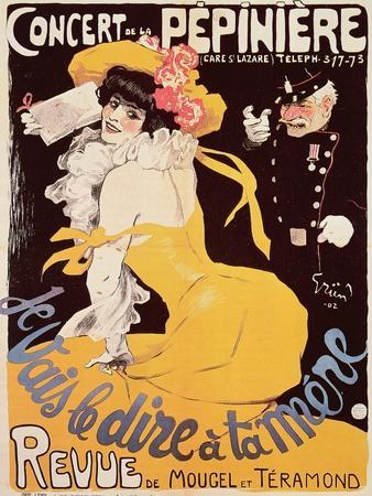Poster for the Concert de La Pepiniere, 1902