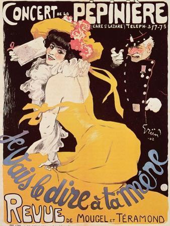 Poster for the Concert de La Pepiniere, 1902 by Jules-Alexandre Grün
