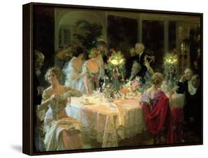 The End of Dinner, 1913 by Jules-Alexandre Grün