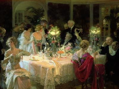 The End of Dinner, 1913 by Jules-Alexandre Grün