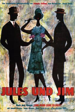 Jules and Jim, German Movie Poster, 1961