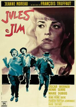 Jules and Jim, Italian Movie Poster, 1961