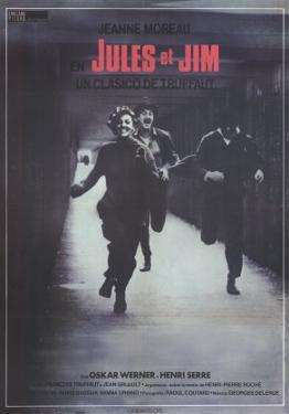 Jules and Jim, Spanish Movie Poster, 1961