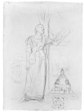 Figure Study for 'Joan of Arc' by Jules Bastien-Lepage