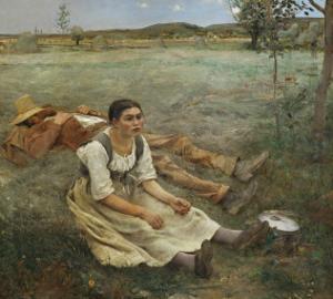 Hay Harvest, c.1877 by Jules Bastien-Lepage