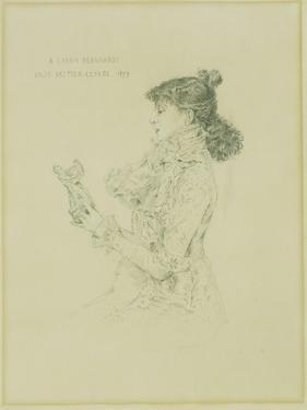 Portrait of Sarah Bernhardt, 1879 by Jules Bastien-Lepage