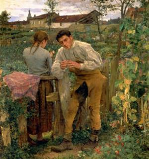 Rural Love, 1882 by Jules Bastien-Lepage