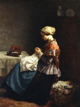 The Little Seamstress, 1858 by Jules Breton