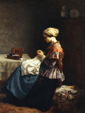 The Little Seamstress, 1858 by Jules Breton